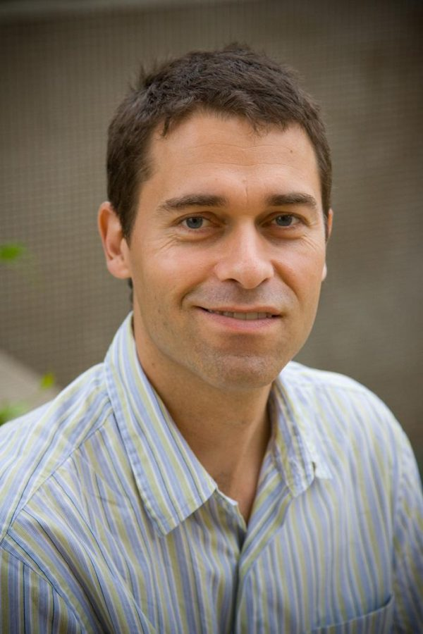 Moving on up: Chemistry professor Grady Hanrahan.