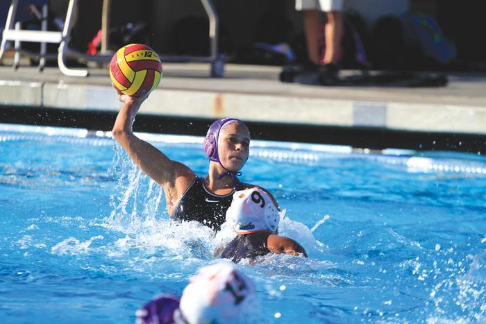 Making it count: Shannon Streeter participates in Cal Lu's 19-6 victory over CalTech on Wednesday. Streeter was one of four seniors recognized before Saturday's match against Redlands. Photo by Andrew Domanski- Staff Photographer