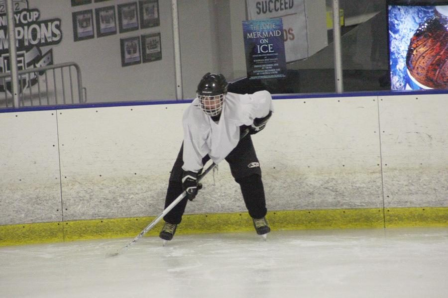 Building team chemistry:  Junior Tyler Tardiff is a member of CLU's club hockey team, the Knights. They practice every Wednesday night and their first game will be on Oct.4.  Photo by Melina Esparza - Photo Editor