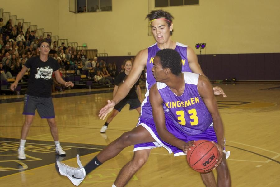 Fun & Games: Junior Jeremy Sulker-Hall is guarded by sophomore Guy Lynott during Oct. 25's festivities. Photo by Arianna Cook- Staff Photographer