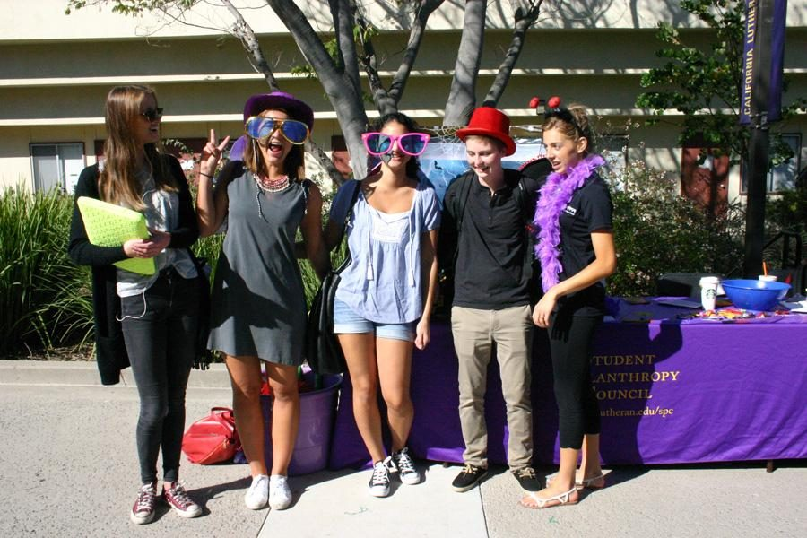 Dressing up for pumpkins: Students participate in Philanthropy Friday. The Philanthropy Council is promoting its annual pumpkin drive, which raises money for the annual fund. Photo by Kine Rossland - Staff Photographer