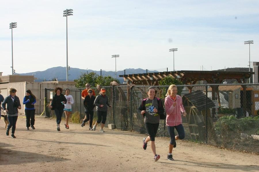 Just do it: 12 members of the SEEds for Haiti club will travel to Haiti over winter break from Dec. 27- Jan.17.  The Trail Run for Haiti 3k or 5k run took place on Dec. 8 at 9 a.m. as a fundraiser for the trip.  Photos by  Kine Rossland- Staff Photographer