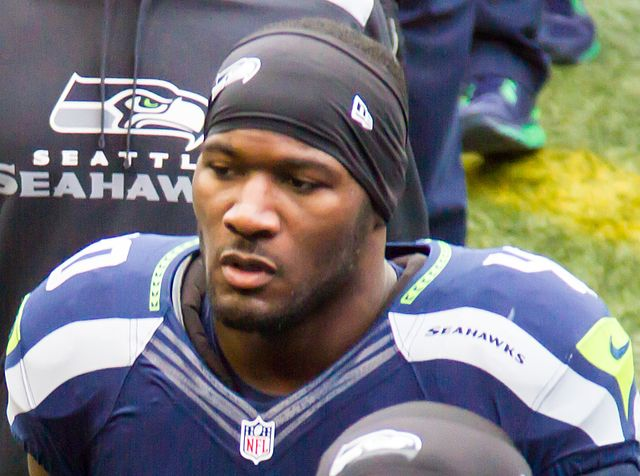What disadvantage?: Derrick Coleman is the first deaf offensive player in the NFL and just finished his rookie season with the Super Bowl XLVIII champions, Seattle Seahawks. Coleman made numerous plays on special teams this season including the first tackle of Super Bowl XLVIII on Feb. 2. Photo courtesy of Michael Morris and Wikimedia