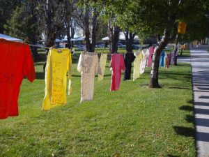 "Consent is sexy: During Take Back the Night on May 1, attendees can view ""the clothesline project,"" a display of T-shirts created by victims of sexual violence and their supporters.  Photos courtesy of YoungMi Peak- President of Feminism Is..."
