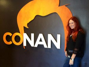 "Tonight's episode: Isabella Cherry works full time as a production intern on the set of  ""Conan,""  on top of being a full time student at California Lutheran University. Photos courtesy of Isabella Cherry"