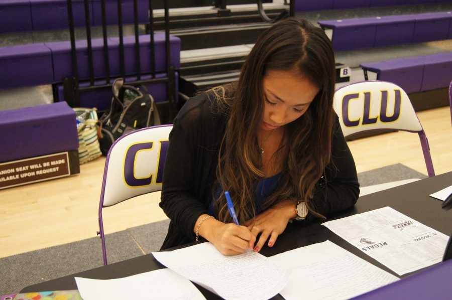 Internships: Sophomore Trianna Owen works as an unpaid Sports Information intern.   Photo courtesy of Hailey Moore