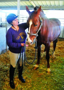 Dream Team: California Lutheran University student Yasmine Abdallat upon her noble steed, Hamilton, hopes to qualify for the 2016 Olympic Games in Rio de Janerio, competing for the country of Jordan.