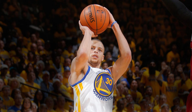 Golden State Warriors point guard Stephen Curry is one of the favorites to win the NBA's Most Valuable Player award this season.  Photo courtesy of nba.com.
