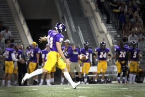Senior punter Jack McFarland is a two-time ALL-SCIAC selection and is one of seven four-ear members of the Kingsmen football team. He is also president of the SAAC at Cal Lutheran.  Photo by PK Duncan - Staff Photographer