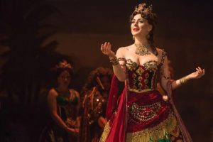 'Think of Me': Jacquelynne Fontaine as Carlotta Giudicelli in Phantom of the Opera.  Photo courtesy of Matthew Murphy