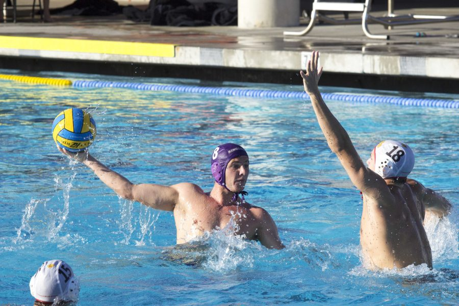 Senior attacker AJ Franklin attempts to put a shot past a Claremont-Mudd-Scripps defender.   Photo by Brady Mickelson - Staff Photographer