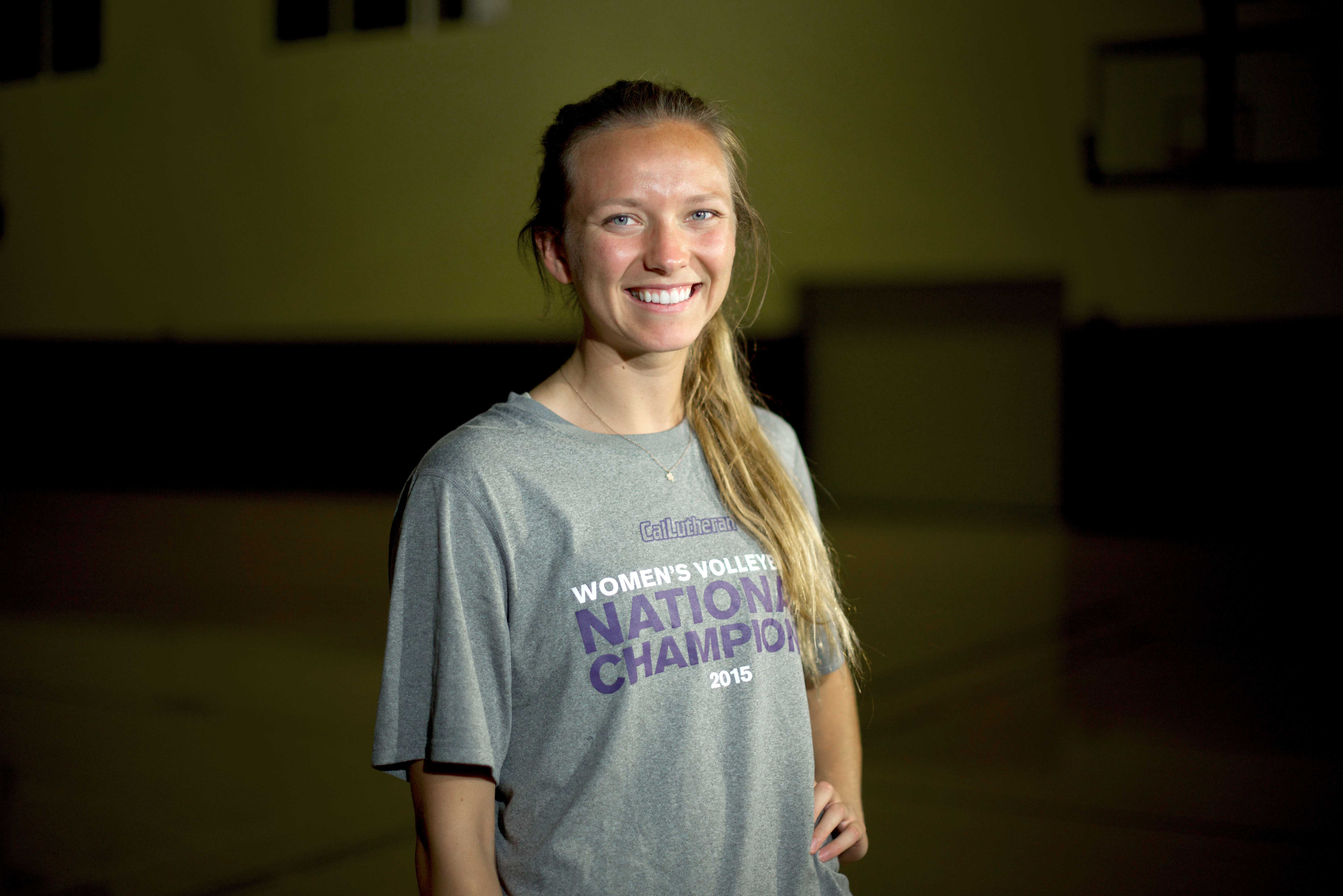 Female Athlete of the Year Allie Eason helped lead the Regals Volleyball team to Cal Lutheran's first NCAA National Championship.  Photo by Eric Duchanin - Senior Photographer