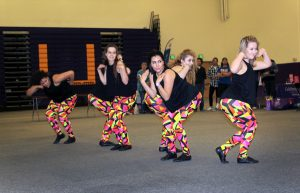 DMC performed a jazz funk routine at Relay for Life. Photo by Jackie Rodriguez - Staff Photographer