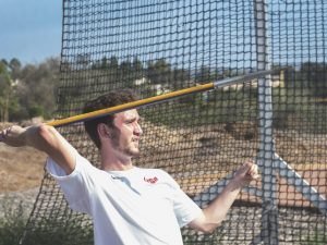 Traveling abroad: Senior javelin thrower Cody Jones traveled to the summer Paralympic Games in Rio de Janeiro to compete for a medal in the Javelin throw. Photo by Brady Mickelson--Staff Photographer