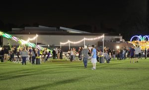 The homecoming carnival was decorated with lights and bright colors for optimal enjoyment for Cal Lutheran's families and students.