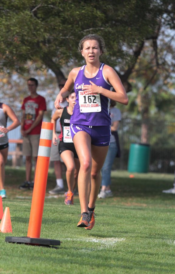 Erin Knight competed this weekend in La Mirada and finished with a time of 26:25.31.  Photo Credit--Tracy L. Olson Sports Information Director