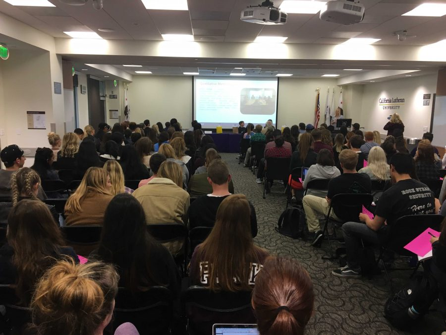 Career Services hosts the 2017 Careers in Communication Speaker Panel.  Photo Courtesy of Henry Studebaker - Staff Writer.