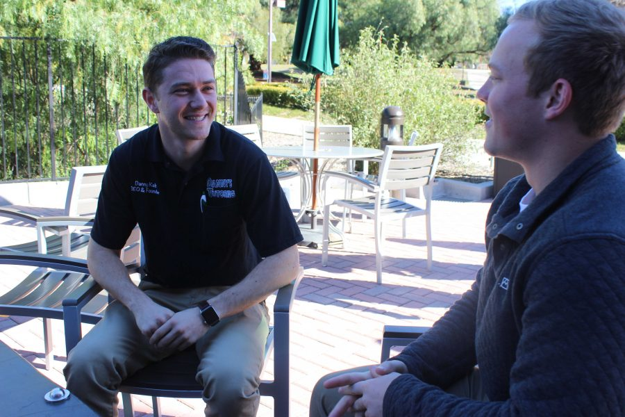 (L to R) CEO Danny Kab and tutor Hayden Smith.  Photos by Brandy Alonzo-Mayland - Staff Writer