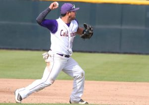 Senior infielder Jimmy Jauregui went 1-3 hitting .333 and drawing two walks and two runs in the Cal Lutheran victory. Photo by Tracy Olson--Sports Information Director