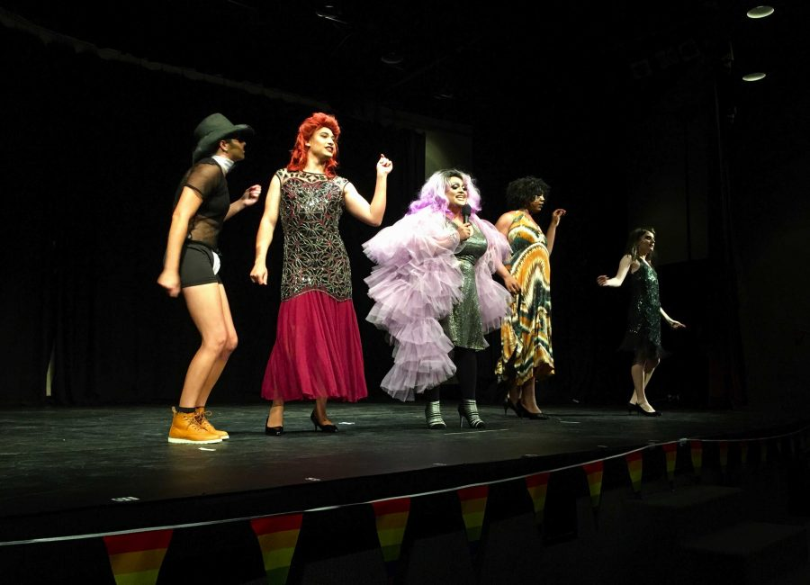 """Strut your stuff: (L to R) Chloe Edmunds, Ryan Moguel, Chris Vazquez, Jamell Dorton and Joey Whiteford perform """"We Are Family"""" in the show's finale."""