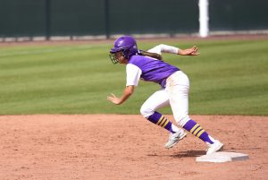 Junior outfielder Jacy Watanabe went 7-13 on the weekend hitting .538, scoring three times, walking once and stealing one base in the Regals weekend split. Photo by P.K. Duncan- Staff Photographer