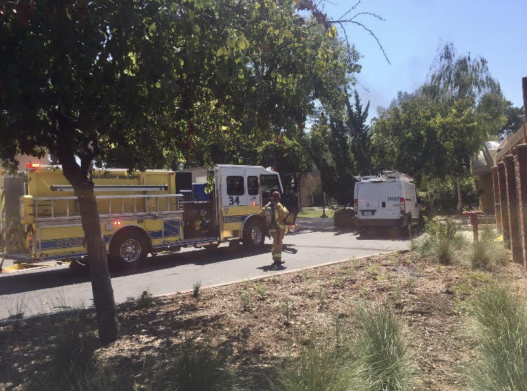 Ventura County Firefighters on scene at the Student Union building.  Photo by Jackie Rodriquez - Photo Editor