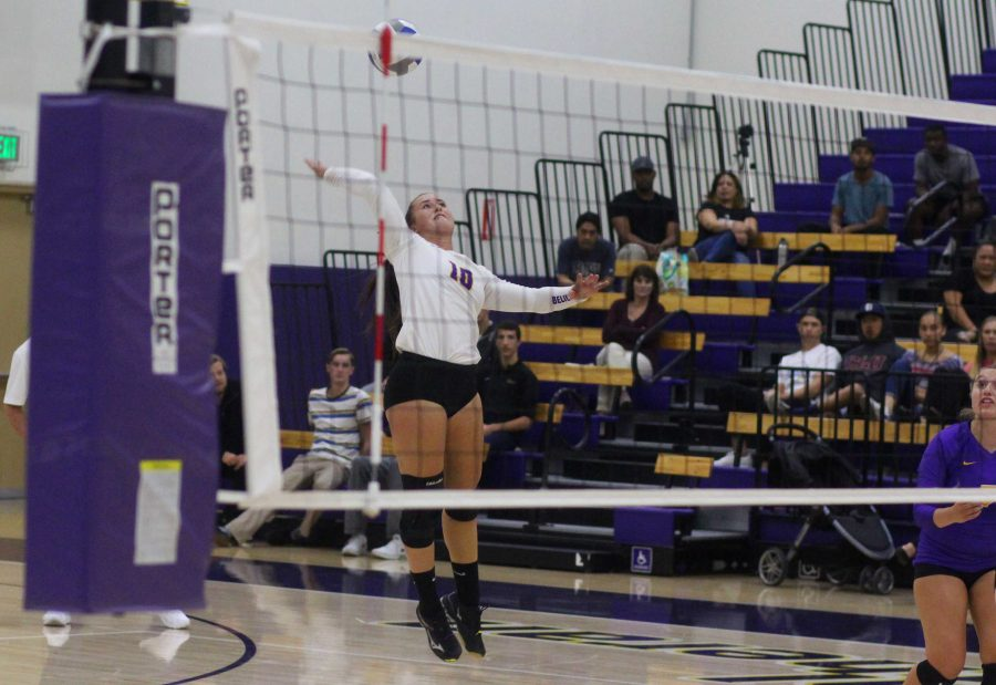 Carly Rose Howard racked up 11 digs against Occidental on Friday night. This sparked back-to-back wins for the Regals as they head into the heart of their conference schedule. Photo by Tracy Olson- Sports Information Director