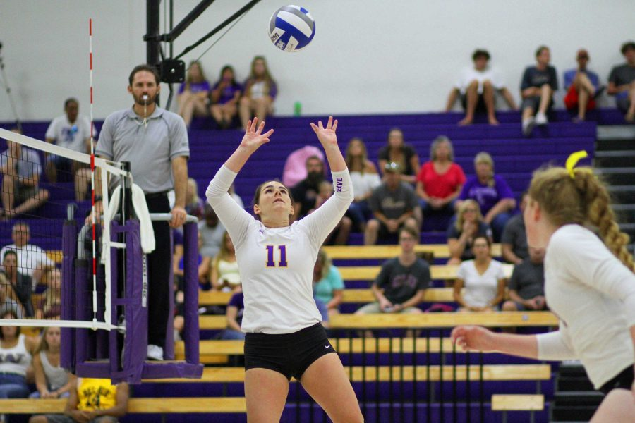 Mikayla Dobson racked up 11 digs on Saturday night Photo by Tracy Olson- Sports Information Director