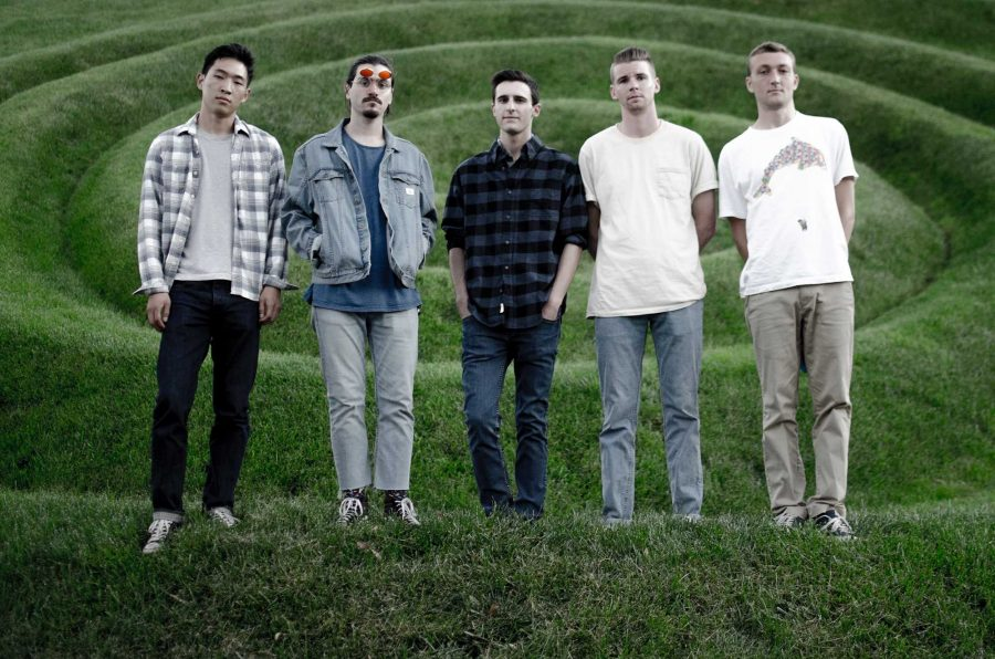 Hitting the charts: (L to R) David Cheung, Riley Herrera, Lucas Frankel, Caleb Arndt and Torrance Klein pose for their recent photoshoot as they get ready to release new music.