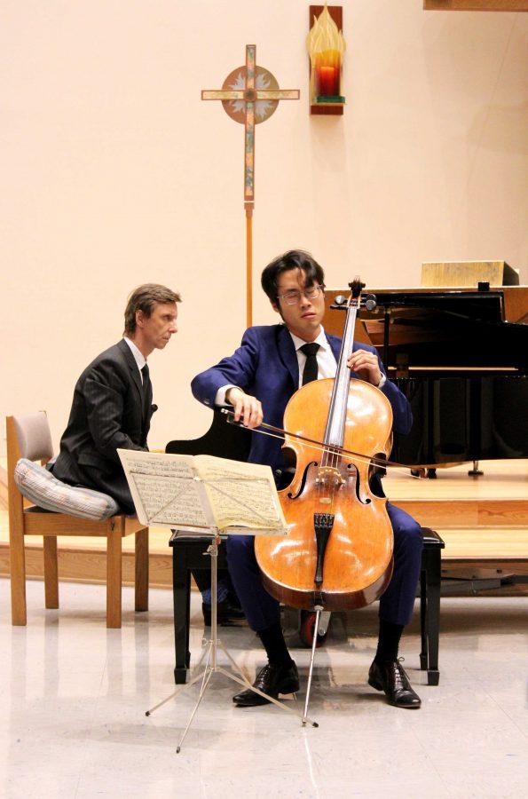 Lost in sound: Yoshika Masuda is an award-winning cellist now teaching at Cal Lutheran. Photo by Saoud Albuainain - Photojournalist