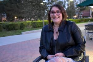 Graduate student Destinie Vidrio expresses the importance of understanding and appreciating diversity on all Cal Lutheran campuses.  Photo by Natalie Elliott- Photojournalist
