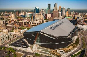U.S. Bank Stadium in Minneanapolis will be the site of Super Bowl LII Photo Credit- Mortenson.com