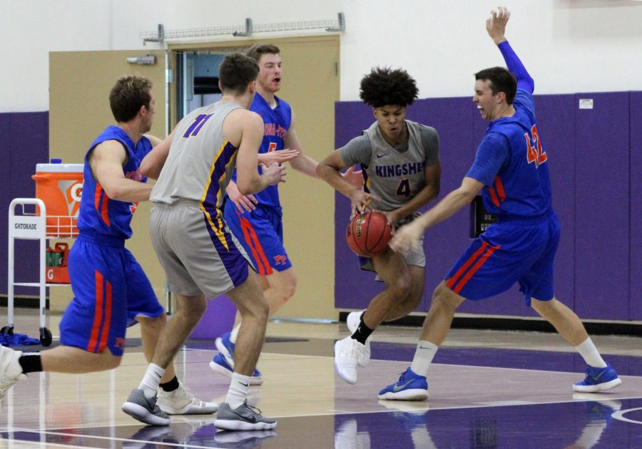 Freshman Cole Thomas was a bright spot for the Kingsmen on Saturday. He tied his season high with 8 points while going 3-4 from the field. Photo by Saoud Albuainain- Photojournalist