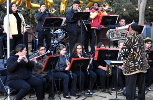 Soul-ed out: Oxnard High School's jazz band performed Friday at the SoulFest in Kingsmen Park. Photo by Aliyah Navarro- Photojournalist