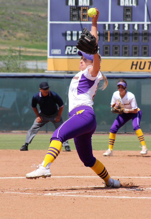 Sophomore Brittany Workman has maintained a solid 3.46 ERA this season.  Photo by Saoud Albuanain- Photojournalist