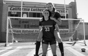 Senior Jordan Miller and sophomore Remi Miller said that playing together motivates them to improve.  Photo by Arianna Macaluso - Photo Editor