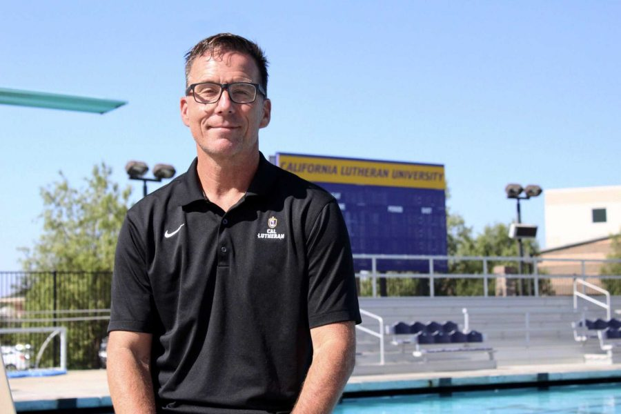 Diving in: Newly hired swimming and diving coach Barry Schreifels is eager to get his players in top shape for the upcoming season. Schreifels has over 20 years of Division I coaching experience.