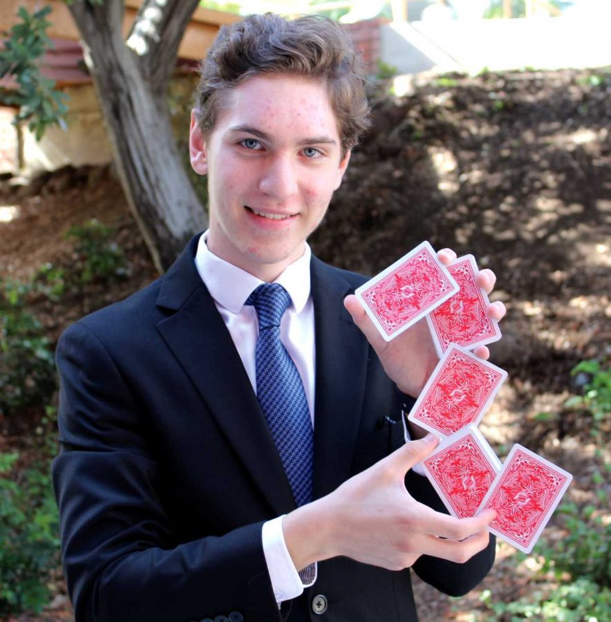 Oh, oh, oh he's magic: Magician Austin Janik has been practicing magic since he was 5, performed with magicians Penn and Teller at age 16 and will be performing at the Magic Castle Oct. 27—28. Photo by Jovani Garcia, Photojournalist.