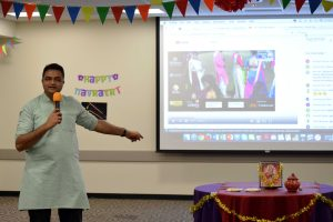 """As part of the Multicultural Diversity Initiative Program, we are in charge of one additional event apart from Holy and Devali to share with the students who are predominantly more domestic students,"" Club India Vice President Chintan Bhatt said. Photo by Ally Gaskill - Photojournalist"