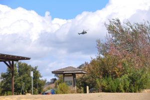 "Open investigation: ""There are 10 officers on site and a helicopter circling the area looking for more information,"" a Malibu State Creek Park ranger said. ""The lower campground remains closed until further notice."" Photo by Francisco Atkinson - Photojournalist"
