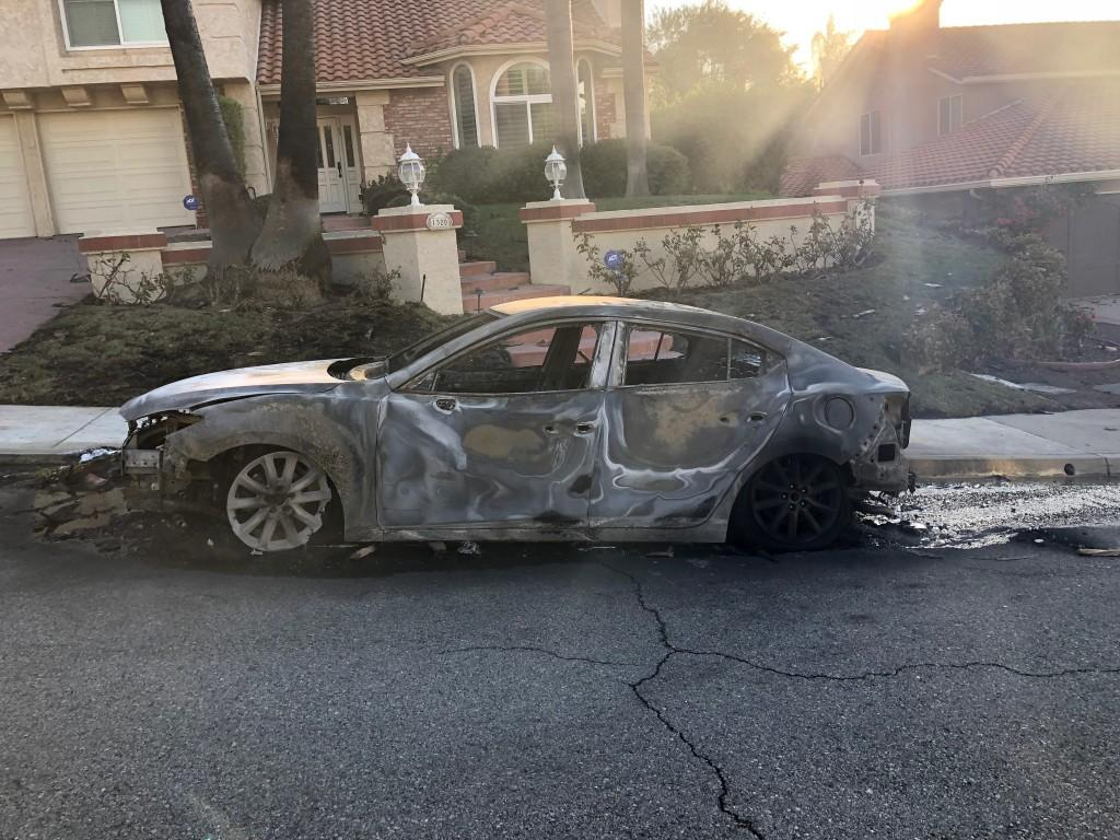 This car was destroyed in the Woolsey Fire. - Photo provided by Paul Macaluso