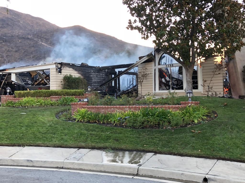 Multiple homes in Oak Park have burned in the Woolsey Fire. Ventura County Sheriff's Office said in a live stream update Friday morning that there is no official count of the number of structures destroyed in the fire.  - Photo provided by Paul Macaluso