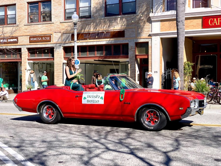 "Luck of the Irish: El Camino High School senior Kaylie Pendleton was named the ""2019 Irish Belle"" of the parade. She has a 3.7 GPA and will be graduating in May with her high school diploma and associate degree in arts from Ventura Community College, according to the parade website. Photo by James Alfaro - Reporter"