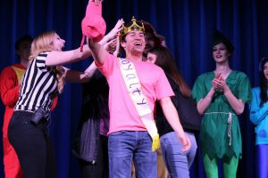 Adam Souza was crowned Mr. Kingsmen 2019 at Competing for the Crown on March 15. The first-year performed a magic trick for the talent portion, which involved guessing the page number and first word on a page from book that an audience member selected. Photo by Spencer Hardie- photojournalist.