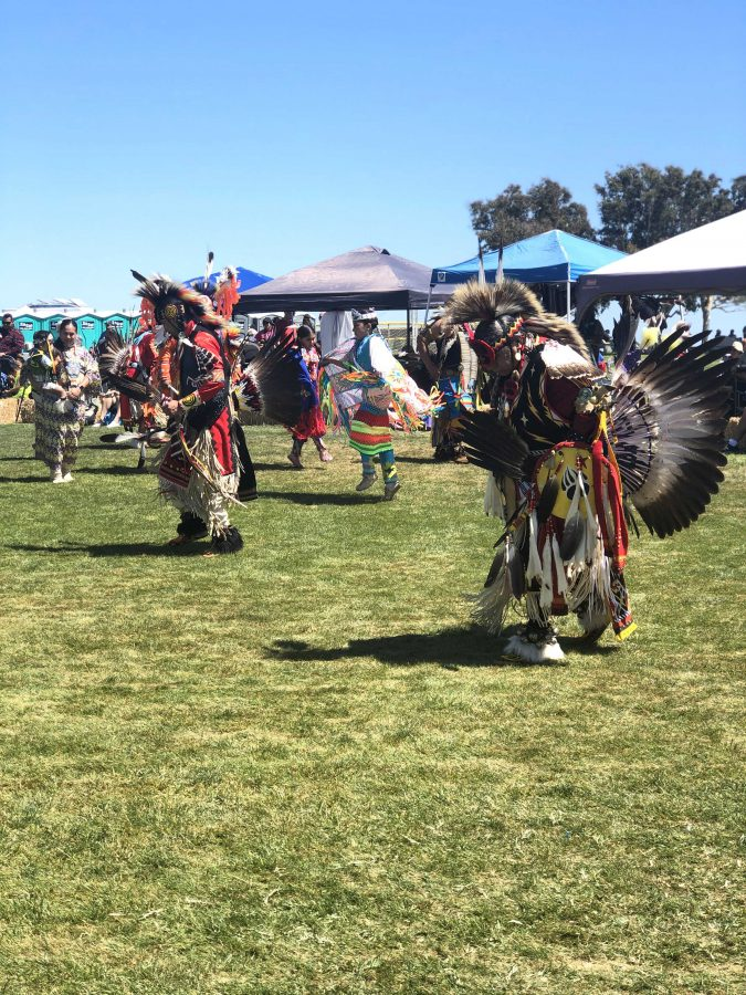 "Keeping traditions alive: Members of various tribes participated in indigenous dances, songs and crafts at the Chumash Day Powwow and Intertribal Day Gathering. ""I think it's important to know where we come from,"" said Linda Gutierrez, who attended the powwow."