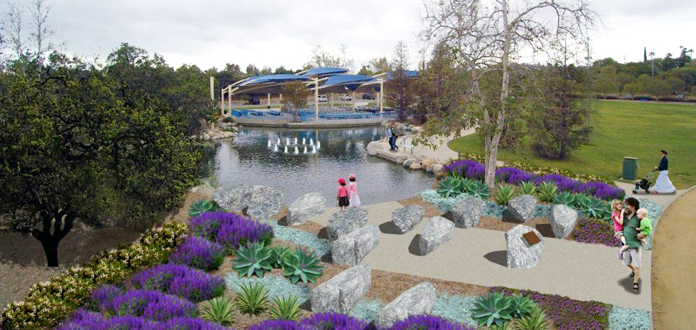 """The garden will be featured in the Conejo Creek North Park to """"provide a place for contemplation, meditation and prayer."""""""