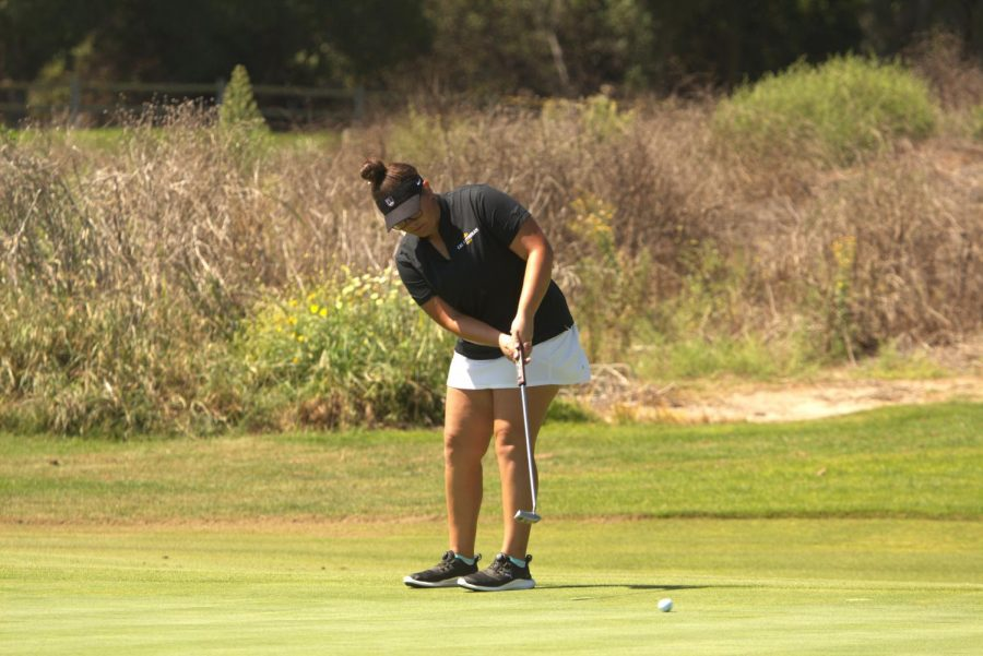 First-year+Claire+Cornejo+set+a+new+program+record+at+the+California+State+Intercollegiate+tournament+on+Sept.+16+and+17.