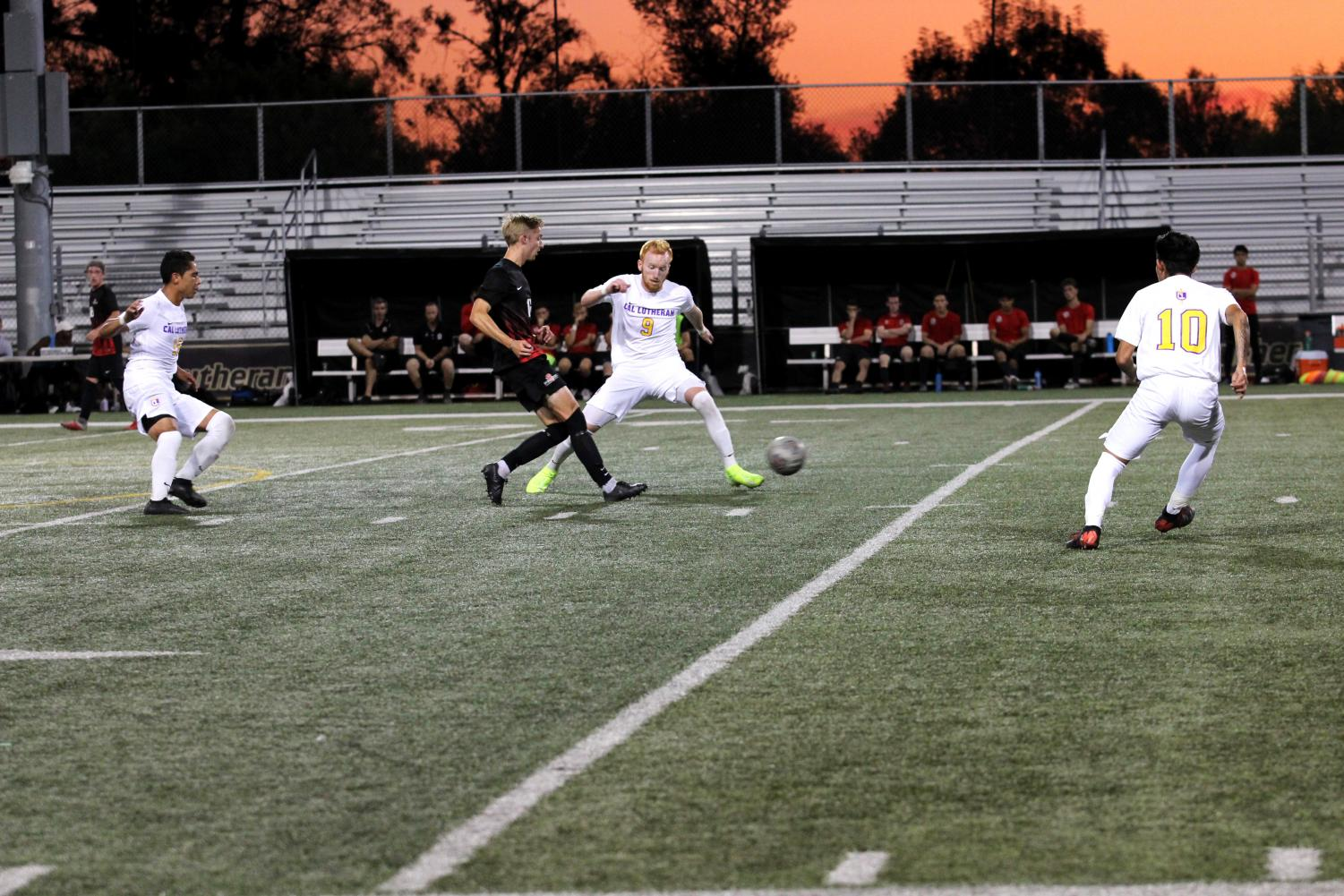 Senior forward, Aaron Winsick, made the first goal of the night against the Foresters.