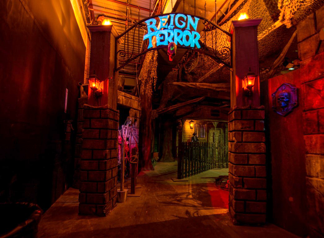 """Located in Janss Marketplace, this haunted house has a variety of mazes to choose from including a """"lights on"""" experience for patrons who are scared of the dark."""