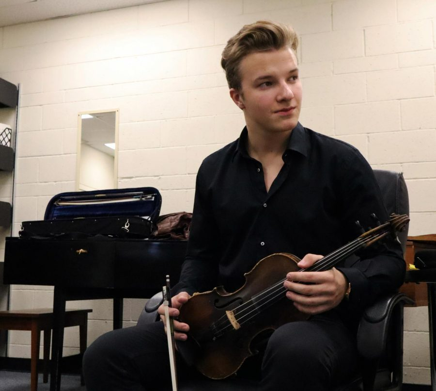 Tabala said his violin is at least 100 years old and was an award for winning an audition in Russia. Tabala is in his first semester at Cal Lutheran and the principal violin of the orchestra.